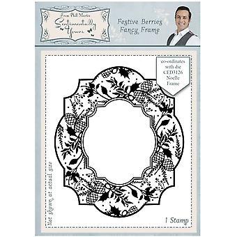Sentimentally Yours Festive Berries Fancy Frame Stamp