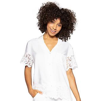 Cyberjammies Leah 4835 Women's Valkoinen kirjailtu Pyjama Toppi