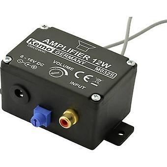 Kemo M032S Mono amp Component 6 V DC, 9 V DC, 12 V DC, 16 V DC 12 W 4 Ω