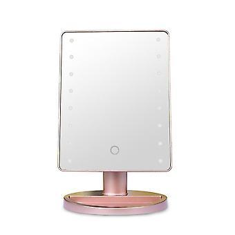 سطح المكتب لمس ماكياج مرآة ماكياج LED مضيئة مع واجهة USB