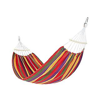 Portable hammock for outdoor camping, thick and durable canvas fabric