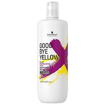 Schwarzkopf Hyvästi keltainen neutraloiva shampoo 1000 ml