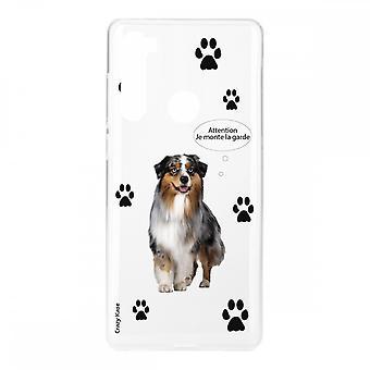 Scafo per Xiaomi Redmi Note 8 in silicone morbido, cane da pastore australiano