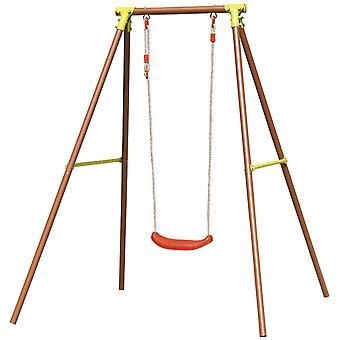 Havesving med ramme - 1-personers - 137x142x182 cm - 50 kg belastning