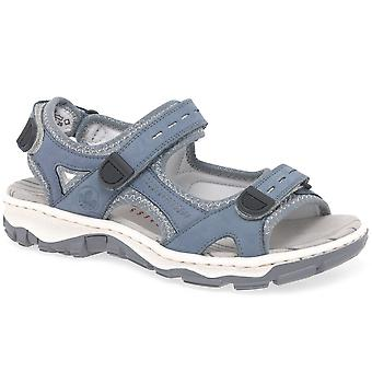 Rieker Liza Womens Riptape Fastening Sandals