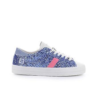 D.a.t.e. Hill Low Glitter Light Blue Sneaker