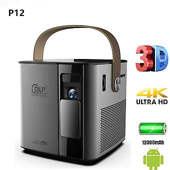 P12 4K 3D mini android 9.0 smart proyector