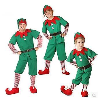 Kerstmis Elf Familie Bijpassende Kleding, Moeder Dochter Jurken