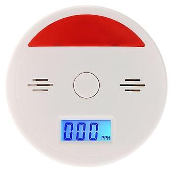 LCD CO一酸化炭素アラームセンサー中毒煙ガステスター音&フラッシュ警告検出器