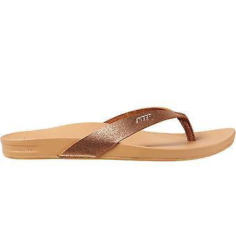 Reef Womens Cushion Court Sommar Beach Sandaler Stringtros Flip Flops - Koppar