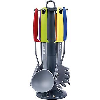 HanFei Kchenwerkzeuge 7-tlg. Set mit praktischem Drehstnder