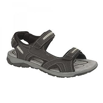 PDQ Sahara Mens Touch Fasten Sports Sandals Black
