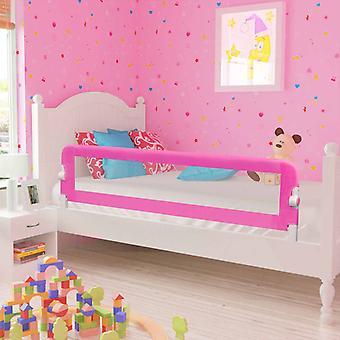 vidaXL småbarn seng beskyttelse grille 2 stykker rosa 150 x 42 cm