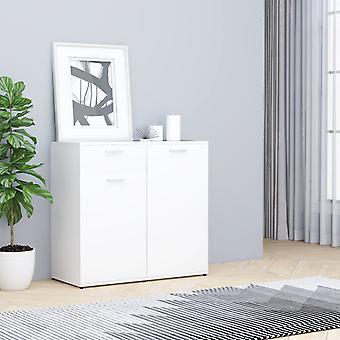 vidaXL Sideboard White 80x36x75 cm Chipboard