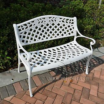2 Person Cast Aluminum Path Chair ,patio Benches For Garden