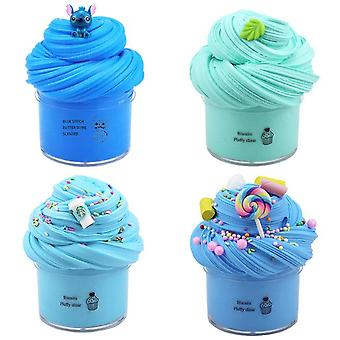 4 Packs Slime Sets , Stretchy Non-sticky And Stress Relief Toy