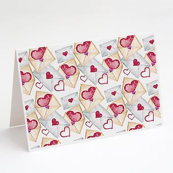 Gratulasjonskort og konvolutter i akvarell kjærlighetsbrev med 8