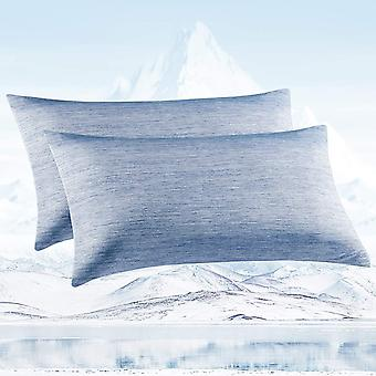 Kühlkissenbezug, Arc-Chill Cooling Kissenbezug aus Premium Japanische Seidenfaser Kissenhülle, Super