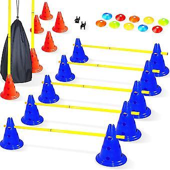 | Hürden Set Verstellbar - Agility Zubehör für das Training - Trainingsgeräte für Fußball Kinder