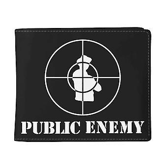 Public Enemy Wallet Target Band Logo new Official Black Bifold