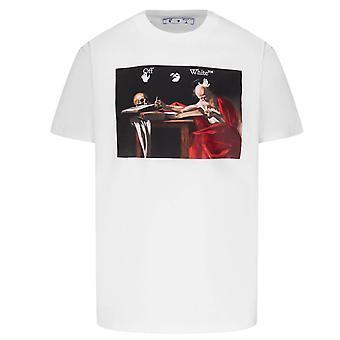 Off White Caravaggio Canvas White T-Shirt