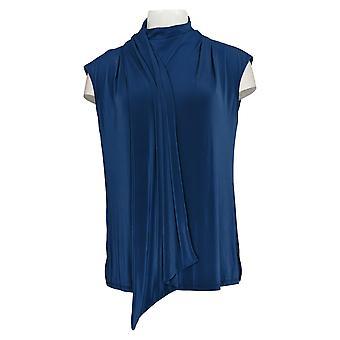 DG2 por Diane Gilman Top Sleeveless High Neck Blue 742972