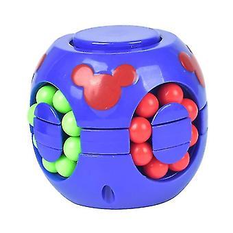 Sininen lasten koulutushampurilaiskuutiolele, stressinvastaiset palapelit Rubikin kuutioleleva az5692