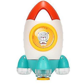 Orange baby shower bath water toy rocket spray water toy spinning water spray beach toy az3843