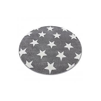Rug SKETCH ympyrä - FA68 harmaa/valkoinen - Tähteä
