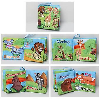 Детская ткань Книга-головоломка Книга Раннее образование Слезоустойчивый Трехмерный