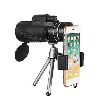 ل40X60 HD BAK4 عدسة بصرية أحادية الإضاءة منخفضة مستوى الإضاءة رؤية ليلية للماء تلسكوب الهاتف WS36875