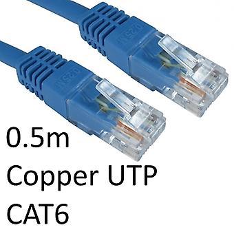 RJ45 (M) à RJ45 (M) CAT6 0.5m Blue OEM Moulded Boot Copper UTP Câble réseau