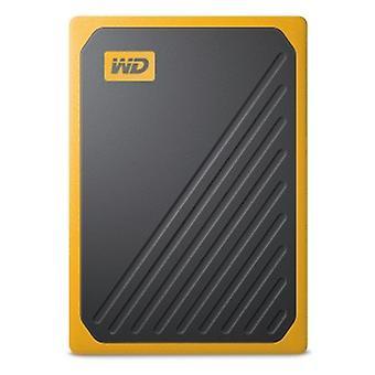 WD 500 GB Můj pas Jít přenosný SSD - Amber Trim