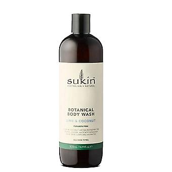 Sukin Body Wash Lime & Coconut, 16.9 Oz
