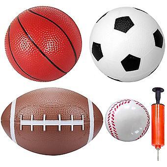 "FengChun Sportbälle Set 6 ""Fußball 6"" Basketball 8,5 ""Rugby 3"" Baseball Indoor Outdoor Office"