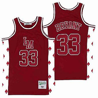 Men's Men's Lm #33 Bryant Basketball Jersey Sports T Shirt S-xxl,fashion 90s Hip Hop Clothing For Party, Stitched Letters And Numbers