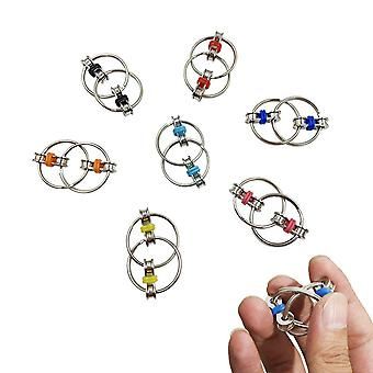 7pcs Bicycle Chain Fidget Toys Set Stainless Stell Stress Reliever