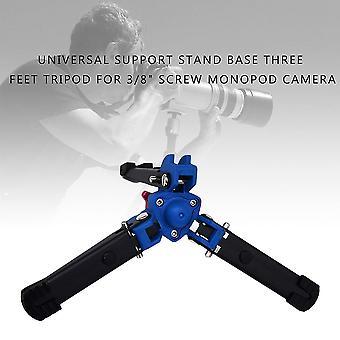 """Uniwersalna podstawa podstawy podparcia trzy stopy statywu do 3/8 """"Śruba Monopod Camera"""