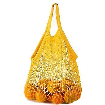 Σύντομη απόσυρση καθαρό βαμβάκι καθαρή τσάντα φορητό βαμβάκι τσάντα βαμβάκι σούπερ μάρκετ λαχανικό (κίτρινο)