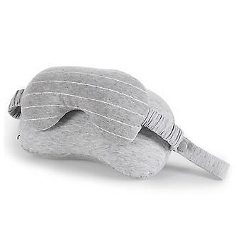 2 I 1 bærbar bomull nakke pute hodet pute øyemaske reise fly sove hvile