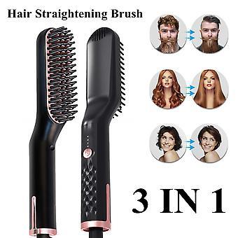 Hair styling comb hair straightener comb hair straightener