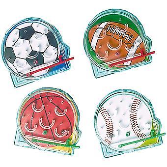 INT390207 - Geschicklichkeitsspiele Bälle, 12 Stück, Plastik, Kindergeburtstag, Mitgebsel