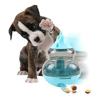 Haustier Tumbler Leck Lebensmittel Ball Hund pädagogische Spielzeug Gourd Slow Food (Sky Blue)