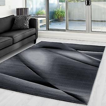 Alfombra de sala de estar de pila corta Alfombra Patrón de sombra abstracto Robusto Gris moteado