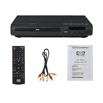 Monialueinen Full Hd Dvd -soitin / DVD-tv-tuki Hdmi Cd Svcd Vcd Mp3 -toiminto