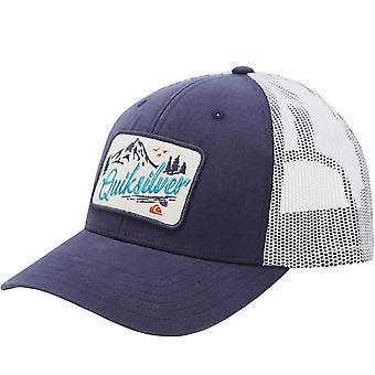 Quiksilver Mens Clean Justerbar Snapback Mesh Trucker Cap Hat - Blå
