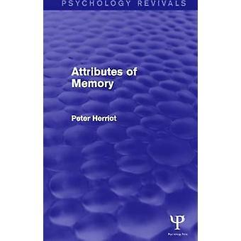 Attributs de la psychologie de la mémoire Revivals Volume 1