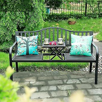 Outdoor Creative Tea Table Chairs Iron Folding Leisure Coffee Table