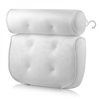 Bath Pillow Bathtub Pillow With 6 Non-slip Suction Cups,15x14 Inch Extra Thick And Soft Air Mesh Pillow For Bath - Fits All Bathtub