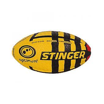 Optimum Sport Hand Stitched Rubber Stinger Print Rugby Ball - Midi